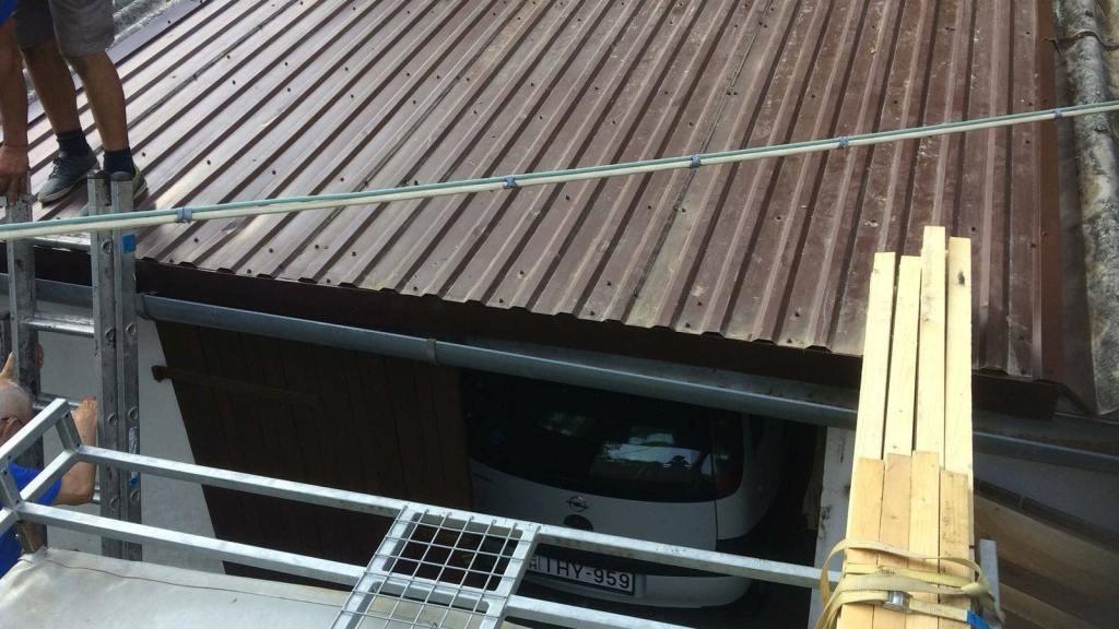 Trapézlemezes tető5